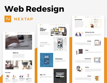 Nextap Solutions - Web Redesign (UX/UI/Illustration)