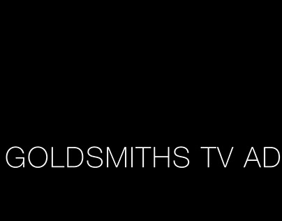 Goldsmiths, University of London, TV ad.