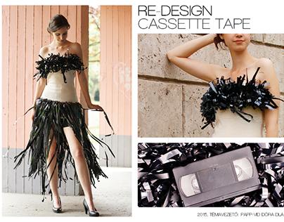 Re-design (casette tape and tie)