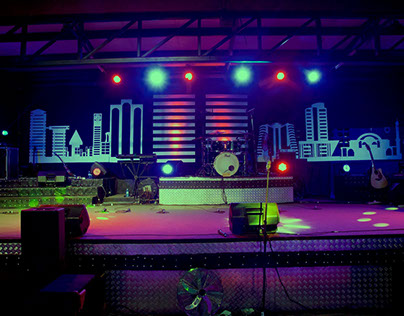 Our God Reigns Stage Design