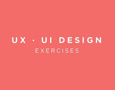 UX - UI Design exercises