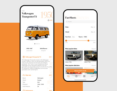 Classic Cars Mobile App