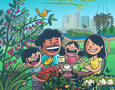herbs to home - campaign illustration