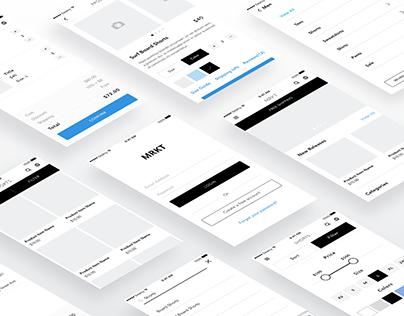 MRKT | Minimal Ecommerce App