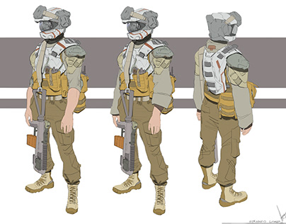 SciFi/Military Charater Design