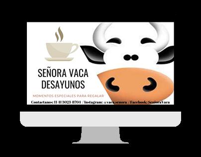 Diseño de tarjetas Personales - Señora Vaca