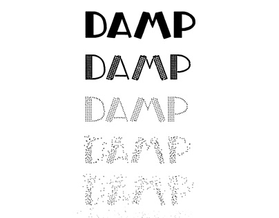 Variable font - DAMP