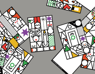 Magical Christmas Cards x5 2018