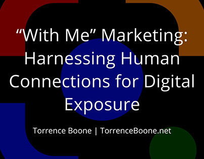 """""""With Me"""" Video Marketing"""