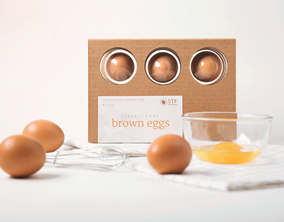 Clearly pure: Egg packaging
