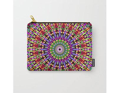Petal Burst Mandala Carry-All Pouch