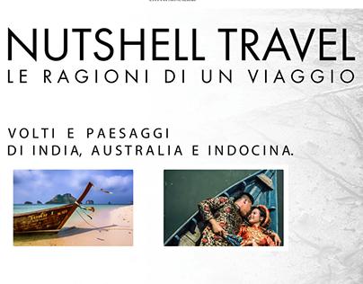 """Grafiche promo """"NUTSHELL TRAVEL"""" (mostra fotografica)"""