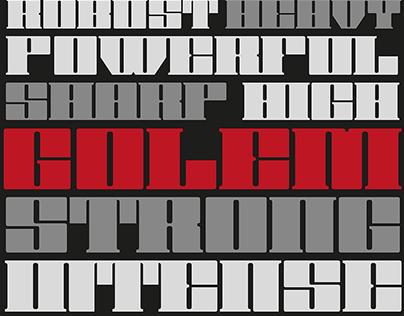 Golem free display font