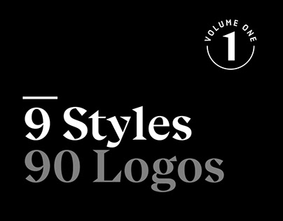 9 Styles, 90 Logos : Volume 1