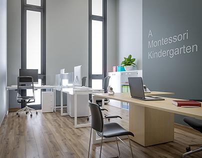 A MONTESSORI KINDERGARTEN _ KITCHEN AND BATHROOM