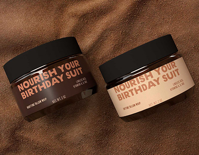 Nourish Your Birthday Suit. Identity and Packaging.