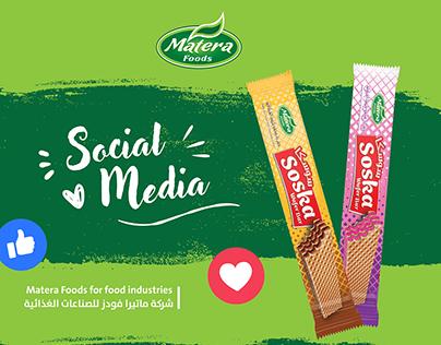 Social Media & Website - Matera Company - ماتيرا فودز