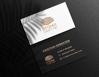 Business card for craft business