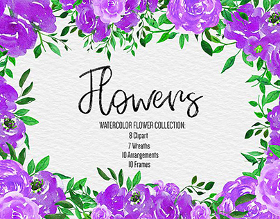 FREE VECTOR PURPLE FLOWERS CLIPART