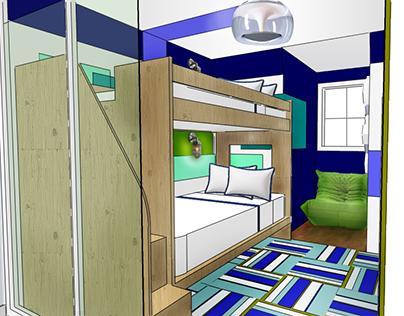 Weehawken Townhome// Toddler Suite