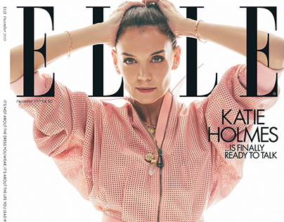 Katie Holmes for ELLE UK December
