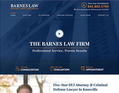 Barnes Law Homepage Mockup