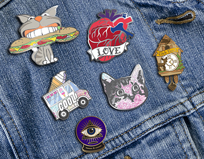 Enamel pin designs