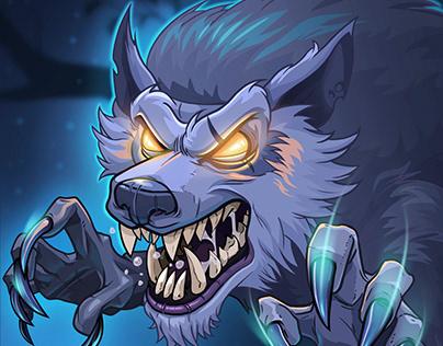 Werewolf design for card game