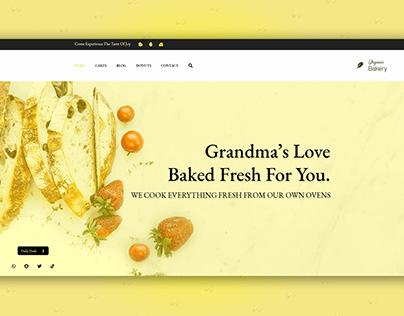 Bakery Landing Page | Bakery Custom UI Design