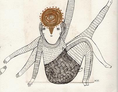 "Illustrations for Aldous Huxley ""Island"""