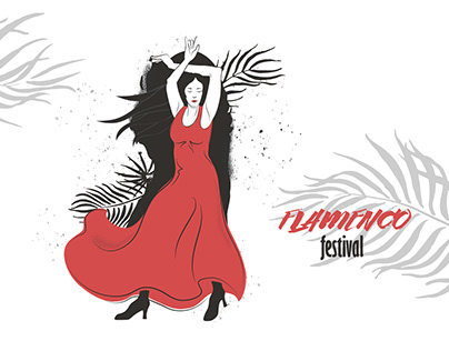 Series of Flamenco illustrations