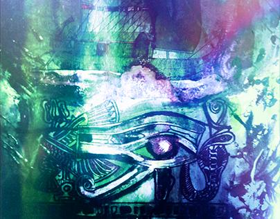 Wedjat - Eye of Horus green edit