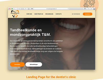 Dentist's clinic landing page