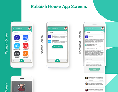 #CategoriesRubbish #AppMockup #iOSAppDesign