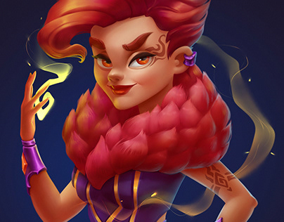 Fire magic girl
