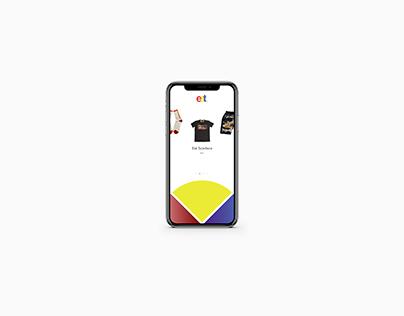 Conceptual UI/UX for eat. Mobile App