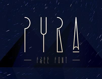 PYRA Free font | Decorative typeface