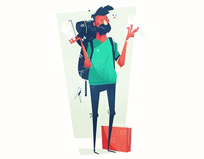 Trip Advisor: Looking Lost | Visual Development