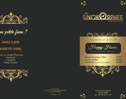 Carte accordéon A3 // Singh Orphée Bar