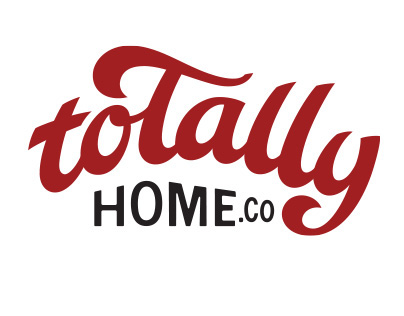 Totally Home.co custom typography logo