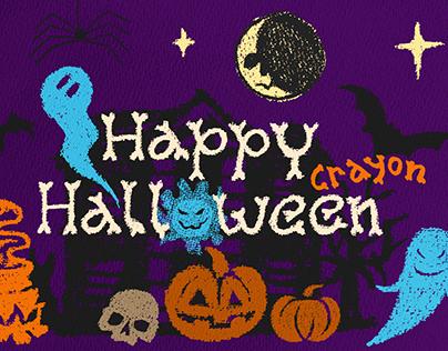 Happy Crayon Halloween