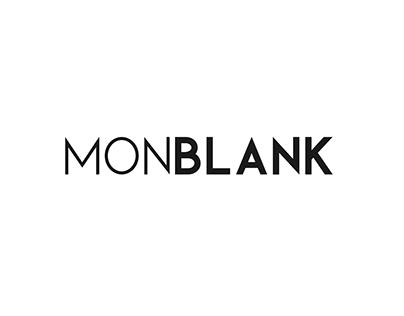 Monblank. Sans serif font family