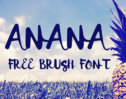 Anana · Free brush font