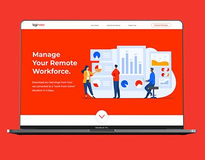 Logimeter Remote Workforce Microsite & Whitepaper