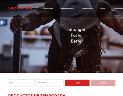 SPORT-TWO: sitemap, wireframe, layout concept website