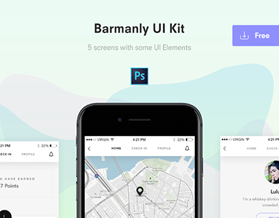 FREEBIE: Barmanly App UI Kit