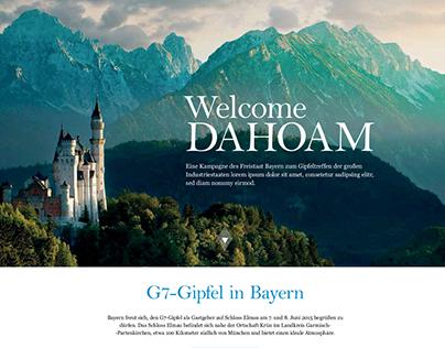 Webdesign for Bayerische Staatskanzlei