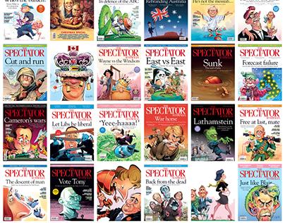 Spectator Magazine Covers 2012 - 2016