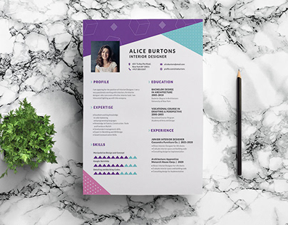 Free One Page Resume Template for Experienced