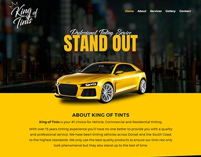 King of Tints - Website Design